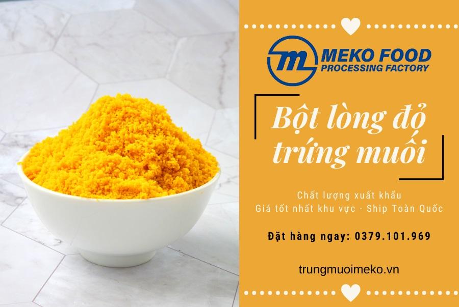 trungmuoimeko.vn - Bột trung muối được sản xuất từ lòng đỏ trứng muối