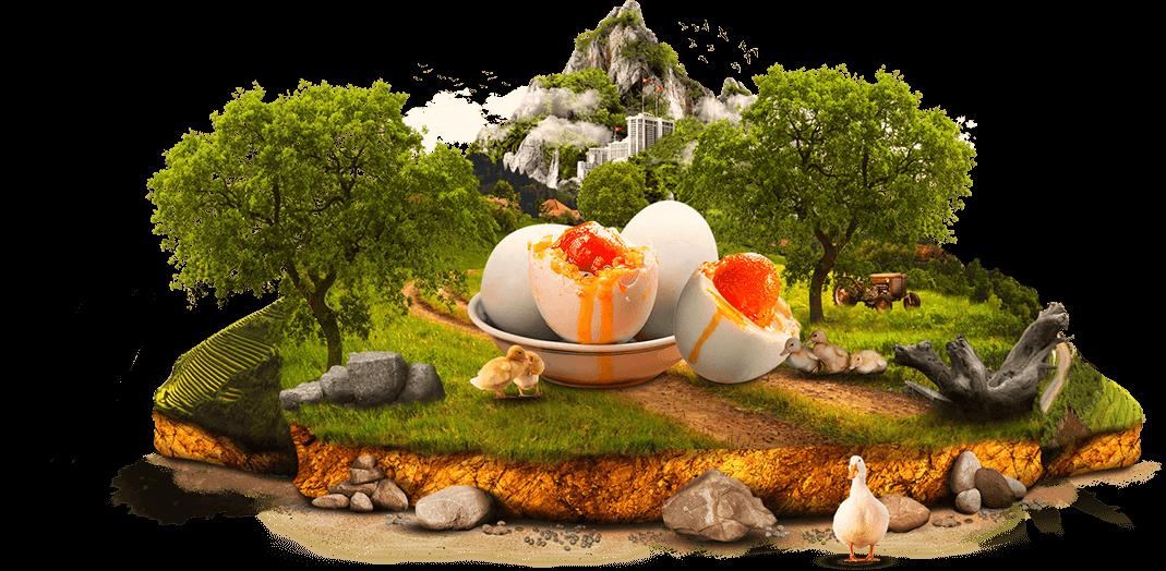 Hình ảnh trứng muối nghệ thuật