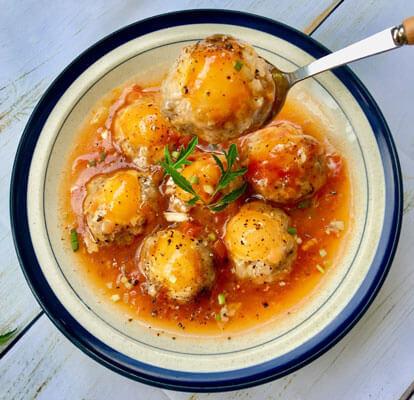Món ăn xíu mại trứng muối thơm nức nồng